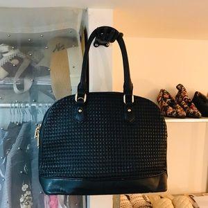 2 FOR $30. Basketweave Crescent Shaped Bag.